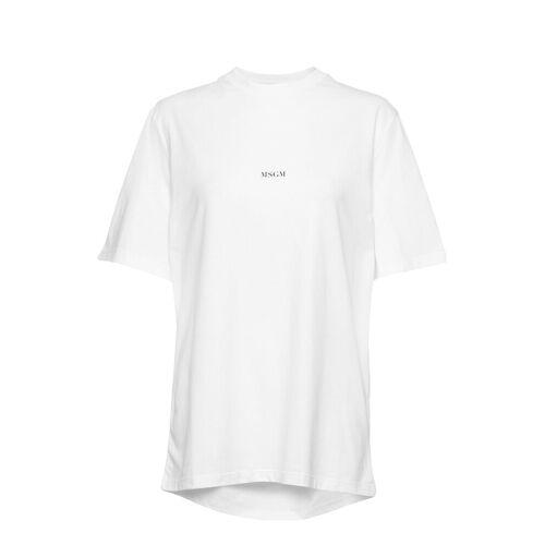 MSGM T-Shirt T-Shirt Top Weiß MSGM Weiß M