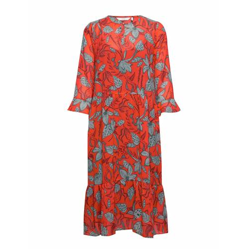 NÜMPH Nuaalia Dress Kleid Knielang Rot NÜMPH Rot 36,34
