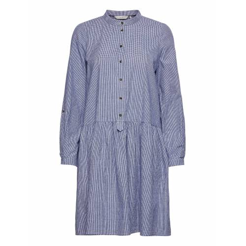 NÜMPH Nubex Ls Dress Kleid Knielang Blau NÜMPH Blau 36,34