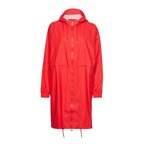 Rains Long W Jacket Regenkleidung Rot RAINS Rot S/M,XS/S,L/XL,M/L,XXS/XS