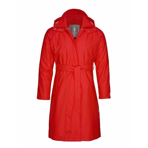 Rains W Trench Coat Regenkleidung Rot RAINS Rot S/M,XS/S,XXS/XS
