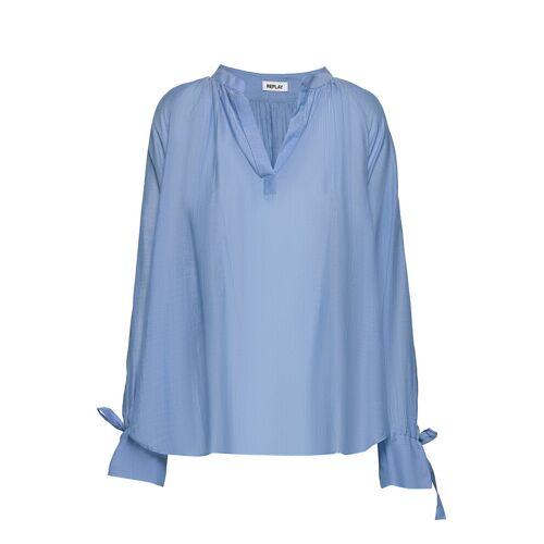 Replay Shirt Bluse Langärmlig Blau REPLAY Blau S,M,XS,XL