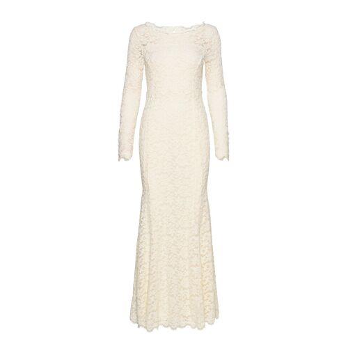 Rosemunde Dress Ls Maxikleid Partykleid Creme ROSEMUNDE Creme M,S,L,XL