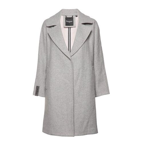 Superdry Koben Wool Coat Wollmantel Mantel Grau SUPERDRY Grau L,S,M,XS