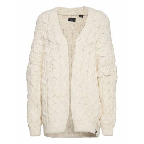 Superdry Grace Over D Cable Cardigan Cardigan Strickpullover Creme SUPERDRY Creme XS,S,M,L,XL