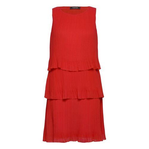 Taifun Dress Woven Fabric Kleid Knielang Rot TAIFUN Rot 38,44,40,42,46,36,34