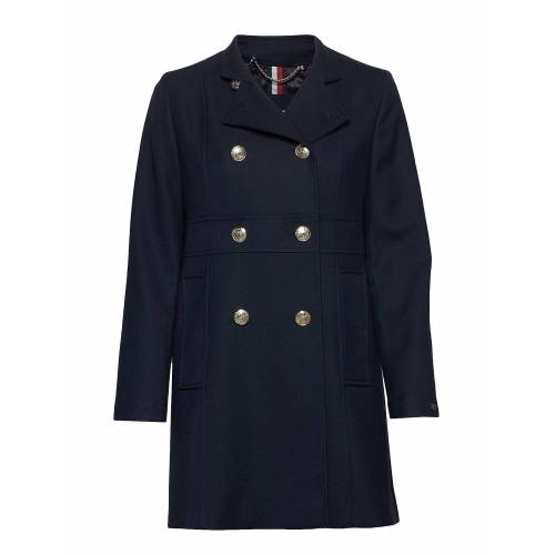 Tommy Hilfiger Nichelle Db Coat Wollmantel Mantel Blau TOMMY HILFIGER Blau 42,40,38,36,44,34