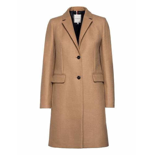 Tommy Hilfiger Th Ess Wool Blend Classic Coat Wollmantel Mantel Beige TOMMY HILFIGER Beige 42