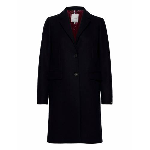 Tommy Hilfiger Th Ess Wool Blend Classic Coat Wollmantel Mantel Blau TOMMY HILFIGER Blau 44