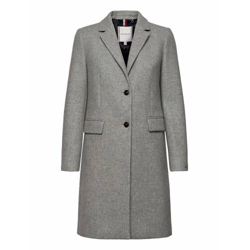 Tommy Hilfiger Th Ess Wool Blend Classic Coat Wollmantel Mantel Grau TOMMY HILFIGER Grau 42,40