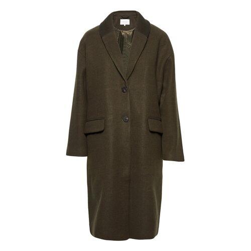 Vila Vicallee Wool Coat/Su/Des Wollmantel Mantel Grün VILA Grün 36,40,42,38,34