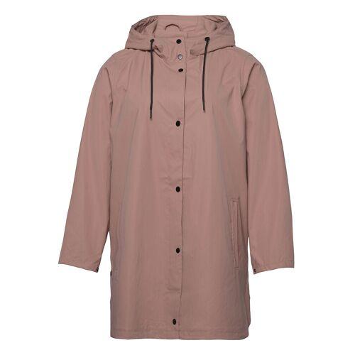 Zizzi Rain Coat Hood Plus Pockets Buttons Regenkleidung Pink ZIZZI Pink 46-48,50-52,42-44,54-56