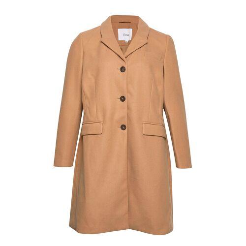 Zizzi Jacket Collar Plus Pockets Wollmantel Mantel Braun ZIZZI Braun 50,54,52,46,44,42,56