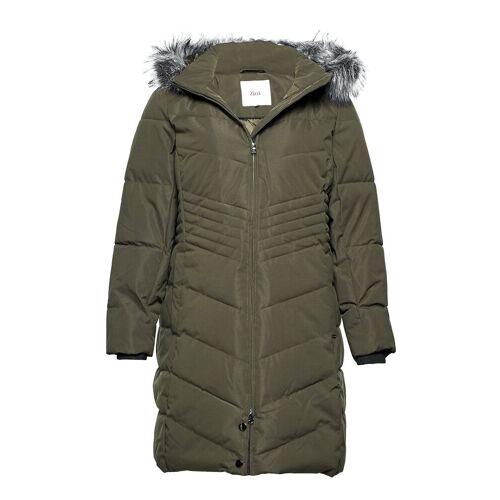 Zizzi Mluxa, L/S, Coat Gefütterter Mantel Grün ZIZZI Grün 42-44