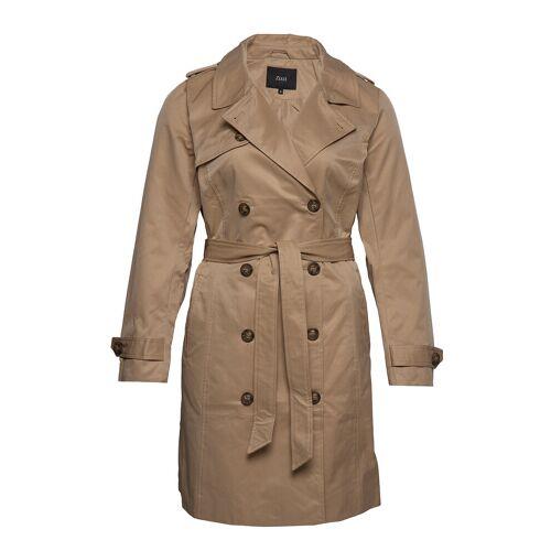 Zizzi Mclea, L/S, Coat Trenchcoat Mantel Braun ZIZZI Braun 50-52,54-56,42-44