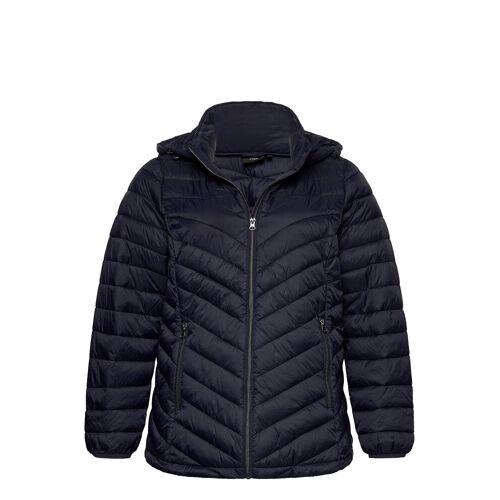 Zizzi Jacket Quilted Plus Hood Zip Short Gefütterte Jacke Blau ZIZZI Blau 50-52,46-48,42-44,54-56