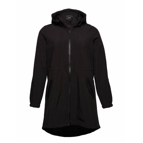 Zizzi Softshell Jacket Waterproof Soft And Warm Parka Jacke Mantel Schwarz ZIZZI Schwarz 46-48,50-52,42-44