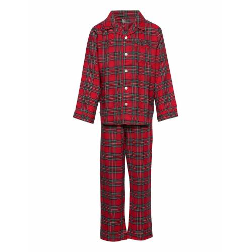 GAP Kids Flannel Plaid Pj Set Pyjama-Set Rot GAP Rot 12,10,14,8,6,4