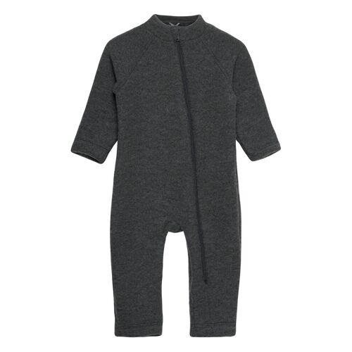 MIKK-LINE Wool Baby Suit Outerwear Wool Outerwear Grau MIKK-LINE Grau 104,98,80,92,86,74,68,62,56