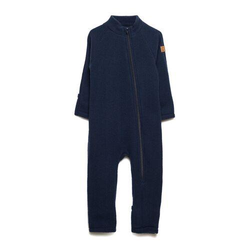 MIKK-LINE Wool Baby Suit Outerwear Wool Outerwear Blau MIKK-LINE Blau 80,98,62,56