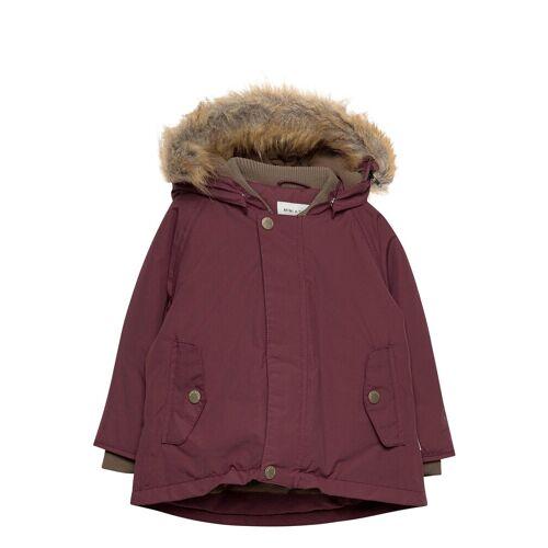 MINI A TURE Wally Faux Fur Jacket, M Parka Jacke Lila MINI A TURE Lila 92,80,86,74
