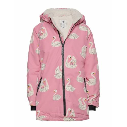 SMÅFOLK Winter Jacket. Girl. Swan Gefütterte Jacke Pink SMÅFOLK Pink 80-92