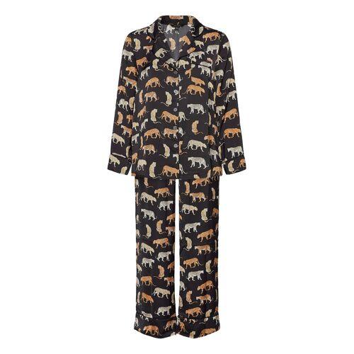 BANANA REPUBLIC Satin Pajama Set Pyjama Schwarz BANANA REPUBLIC Schwarz M,L,S,XL,XS