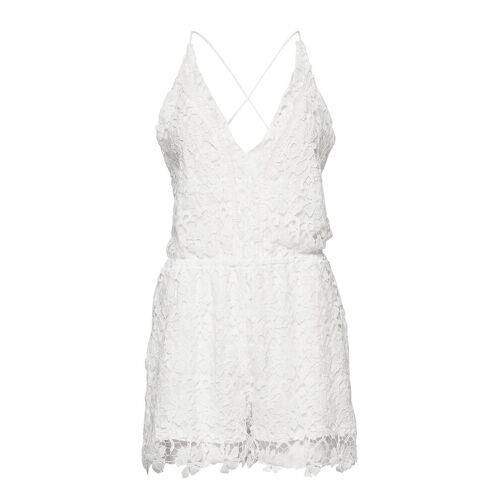HUNKEMÖLLER Crochet Playsuit Pyjama Weiß HUNKEMÖLLER Weiß S,M,L,XL