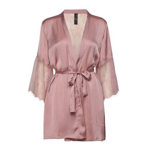 HUNKEMÖLLER Kimono Satin Lily Bademantel Pink HUNKEMÖLLER Pink M/L,XS/S,XL/XXL,XXS