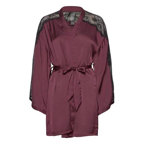 HUNKEMÖLLER Kimono Satin Nadia Bademantel Rot HUNKEMÖLLER Rot M/L,XS/S,XL/XXL,XXS/XXS