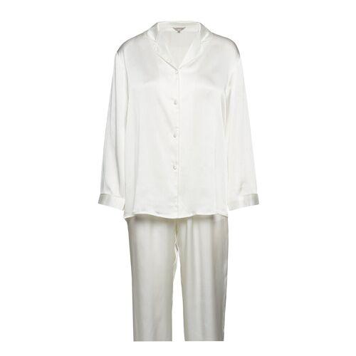 LADY AVENUE Pure Silk - Basic Pyjamas Pyjama Creme LADY AVENUE Creme L,XL