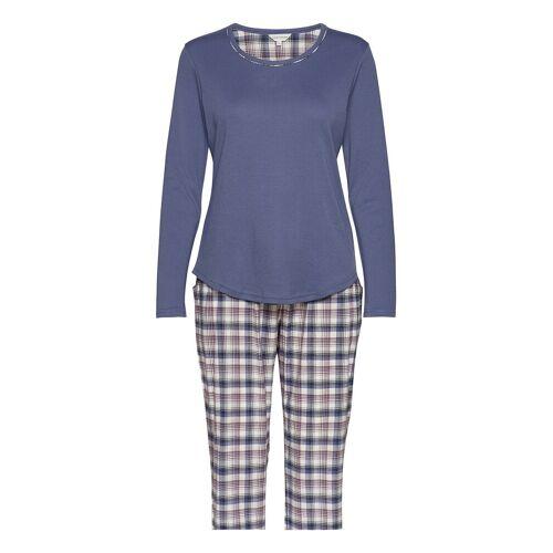 LADY AVENUE Cotton Flannel Pyjamas Pyjama Blau LADY AVENUE Blau L,M,XL,XXL,S,XS