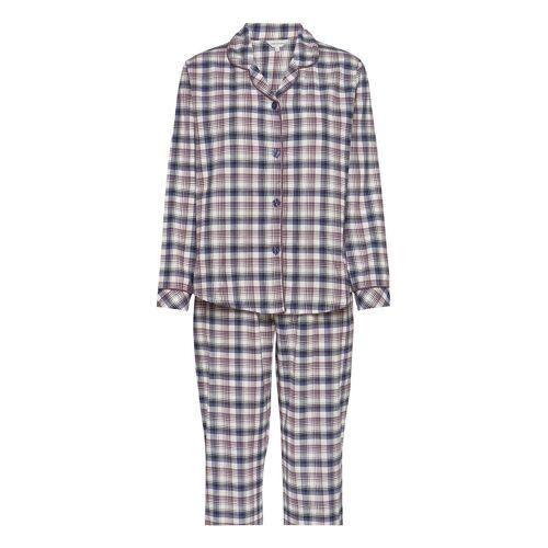 LADY AVENUE Cotton Flannel Pyjamas Pyjama Lila LADY AVENUE Lila L,XL,M,S,XS