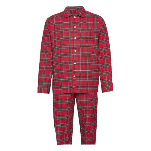 GAP Flannel Pajama Set Pyjama Rot GAP Rot XL,M,L,S