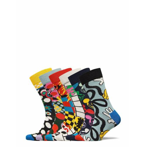 Happy Socks 6-Pack Disney Gift Set Underwear Socks Regular Socks Bunt/gemustert HAPPY SOCKS Bunt/gemustert 41-46,36-40