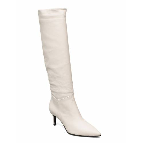 APAIR Long Low Stiletto Hohe Stiefel Creme APAIR Creme 39,36,41
