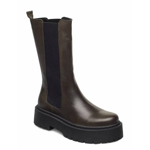 Bianco Biadeb Long Boot Shoes Boots Ankle Boots Ankle Boot - Flat Grün BIANCO Grün 39,38,37,36,40,41