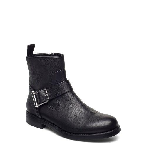 Boss Tarah Biker-Gc Shoes Boots Ankle Boots Ankle Boot - Flat Schwarz BOSS Schwarz 39,38,40,36