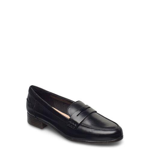 Clarks Hamble Loafer Loafers Flache Schuhe Schwarz CLARKS Schwarz 38,36
