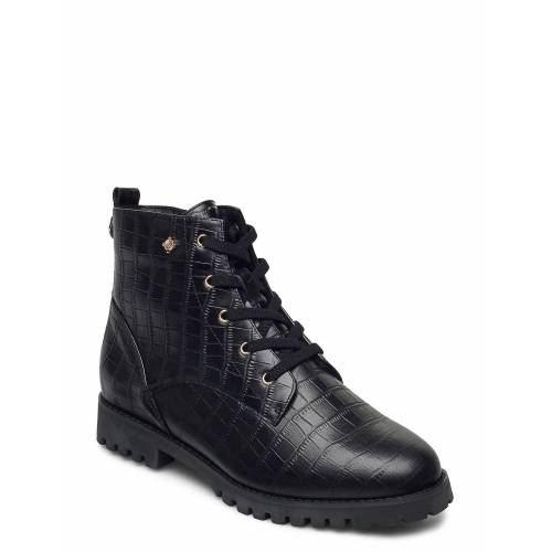 DASIA Carline Shoes Boots Ankle Boots Ankle Boot - Flat Schwarz DASIA Schwarz 39,40,37,36