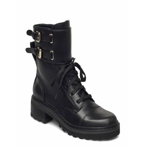 DKNY Bart - Combat Boot W Shoes Boots Ankle Boots Ankle Boot - Flat Schwarz DKNY Schwarz 38,39,41,36