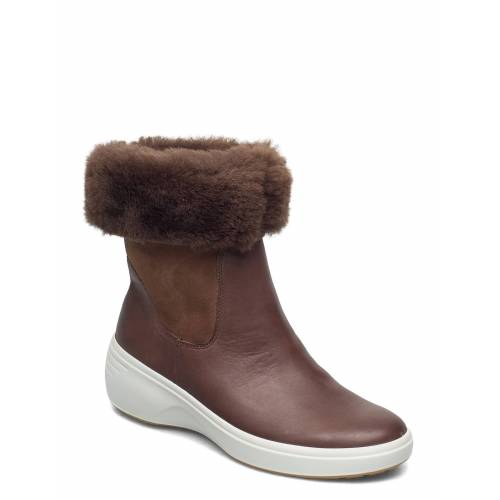 ECCO Soft 7 Wedge Tred Shoes Boots Ankle Boots Ankle Boot - Flat Braun ECCO Braun 38,37,36