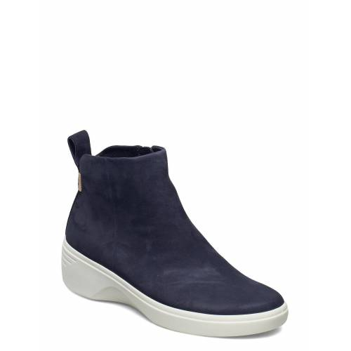 ECCO Soft 7 Wedge W Shoes Boots Ankle Boots Ankle Boot - Flat Blau ECCO Blau 38,37,40,41,39,36,42,35