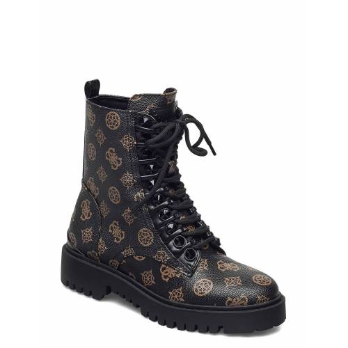 Guess Oxana/Stivaletto /Leat Shoes Boots Ankle Boots Ankle Boot - Flat Braun GUESS Braun 38,39