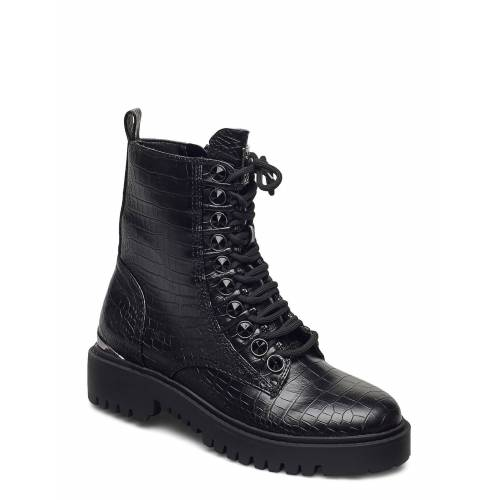 Guess Oxana/Stivaletto /Leat Shoes Boots Ankle Boots Ankle Boot - Flat Schwarz GUESS Schwarz 38,37,36,39