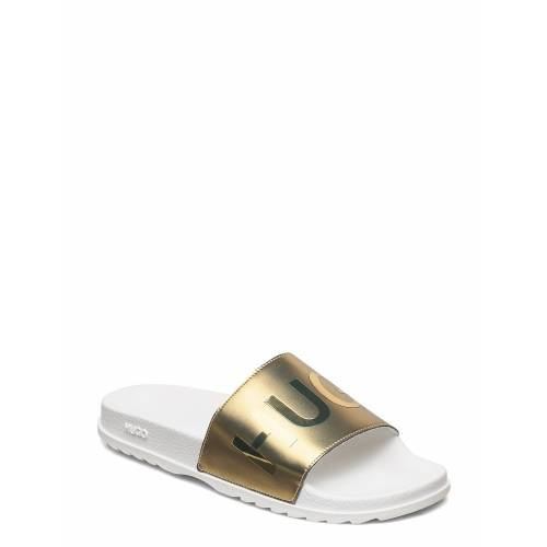 HUGO Match_slid_lmls Shoes Summer Shoes Pool Sliders Gold HUGO Gold 39,38,40,37,36,41