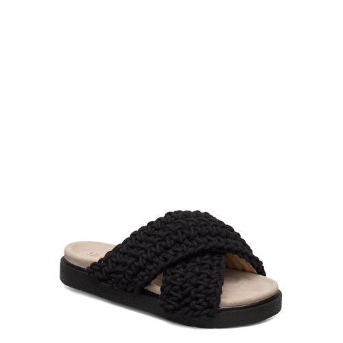INUIKII Slipper Woven Shoes Summer Shoes Flat Sandals Schwarz INUIKII Schwarz 37,38,39,36