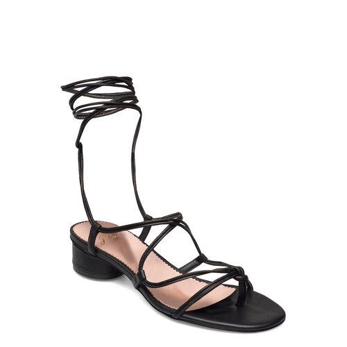 J.CREW Leather Lace Up Strappy Alyssa Sandal Sandale Mit Absatz Schwarz J.CREW Schwarz 37.5,36.5,35.5,38.5