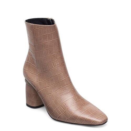 JENNIE-ELLEN Lucky Shoes Boots Ankle Boots Ankle Boot - Heel Beige JENNIE-ELLEN Beige 39,38,40,37,41,36