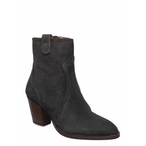 MOS MOSH Mm New York Suede Boot Shoes Boots Ankle Boots Ankle Boot - Heel Grau MOS MOSH Grau 36